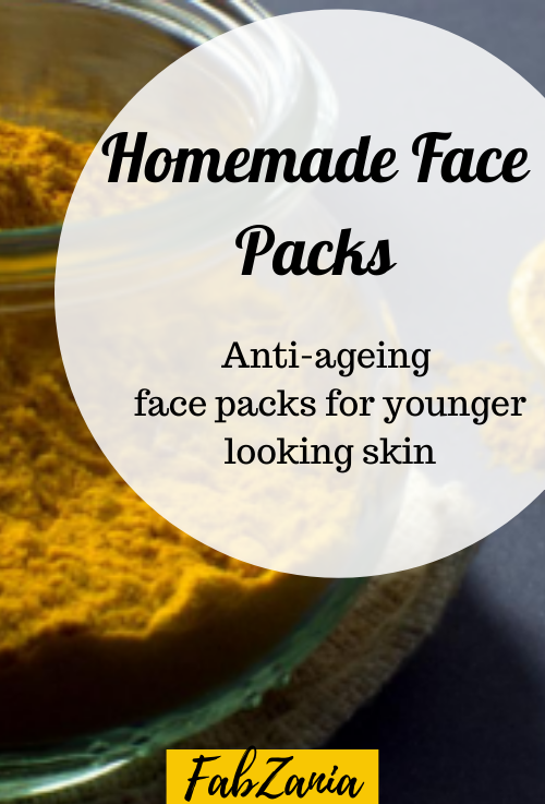 anti-ageing homemade face packs